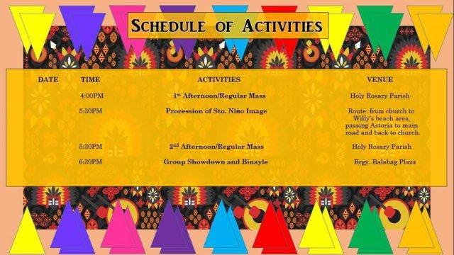 Boracay Ati-Atihan 2019 Schedule of Activities 2