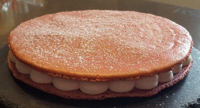 macaron glant fraise saupoudré