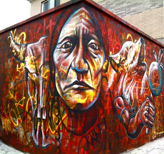 Brooklyn NY 2012: This piece in Bushwick is an homage to one of America's most important heroes, Chief Sitting Bull.