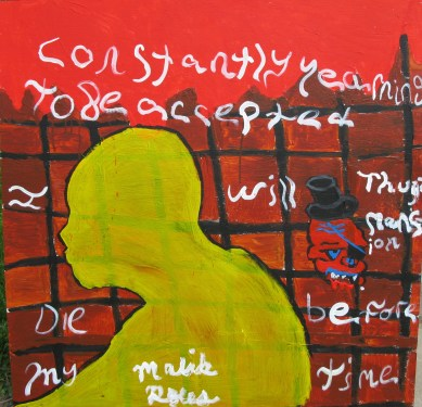 student's work in Baltimore: poetry and painting project