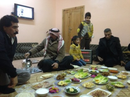 We were invited to an amazing meal at the home of a community leader in Za'atari Village.