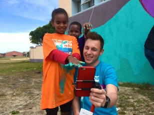 Renaldo and the kids interacting with our global viewers via the Periscope app.