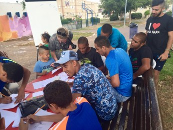 Mural design workshop in Akko