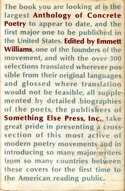 An Anthology of Concrete Poetry