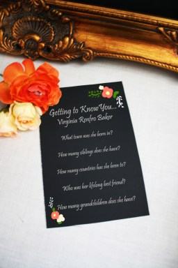 Getting to Know You Card