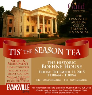 Museum Guild - Tis the Season Tea Ad - Evansville Living