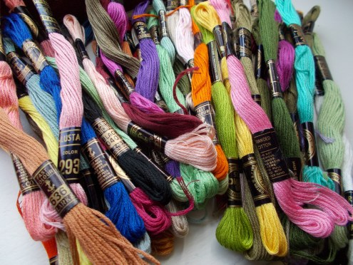 60 embroidery threads