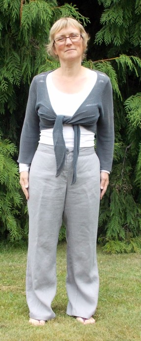 grey linen sandwich trousers