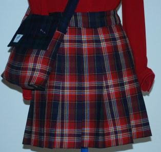 tartan skirt and bag after