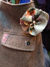 linen corsage