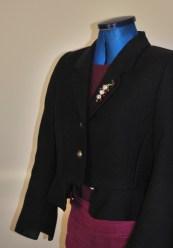 Navy wool upcycled jacket