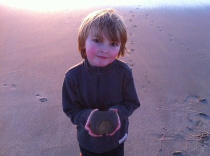 A beach rock