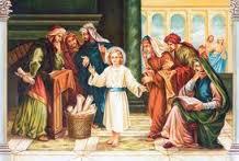 THE BOY JESUS IN THE TEMPLE (c) catholiclane.com