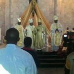 Bishop Donatus flanked by three other bishops.