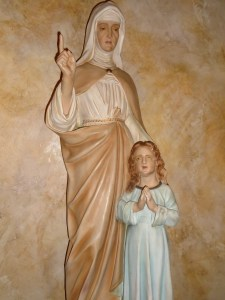 St. Ann and her little daughter Mary.