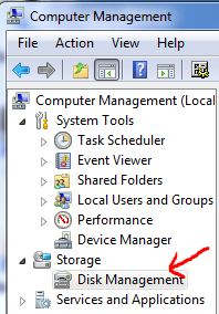 Disk Manager console