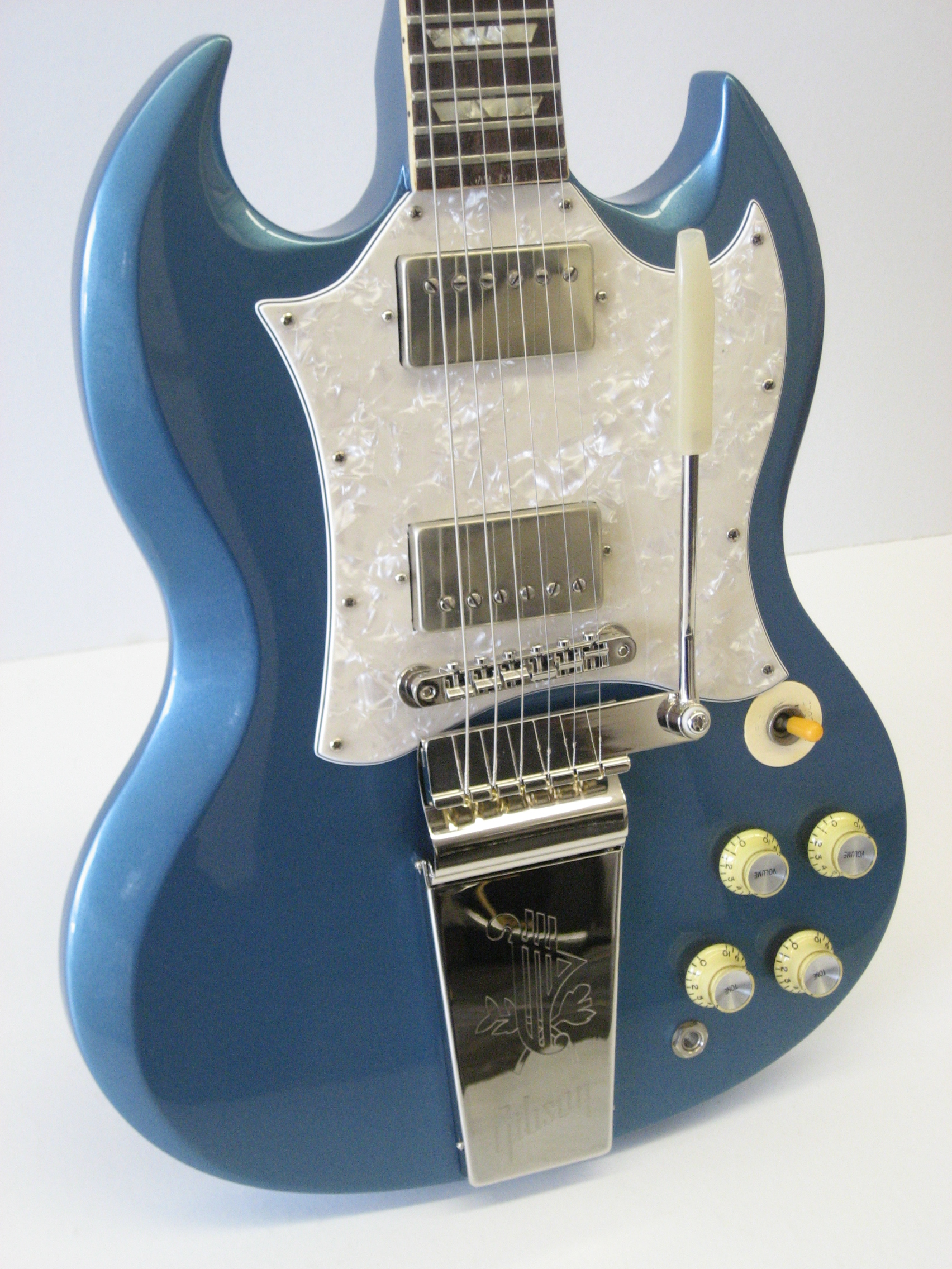 Gibson SG in Pelham Blue  Joel A ShinnLuthier