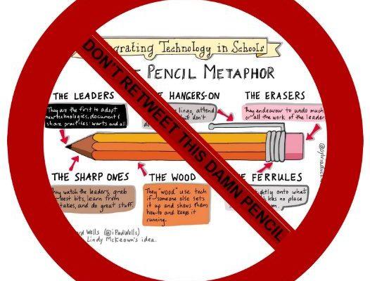 dont retweet the pencil metaphor