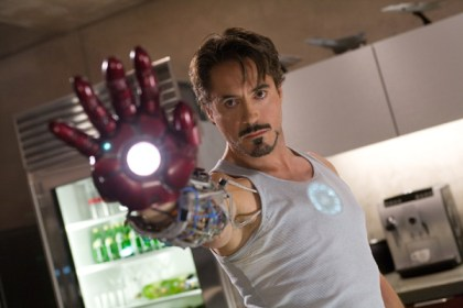 Robert Downey, Jr. as Iron Man.