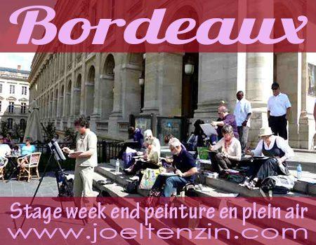 Stage Plein air à Bordeaux, avec joel Tenzin