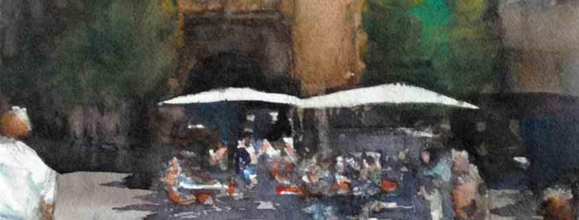 Bordeaux - cailhau_cote_bar, aquarelle de joel Tenzin, watercolor Joel Tenzin