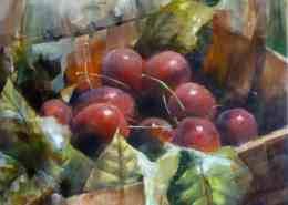 cerises_2013, huile de joel Tenzin, Oil on canvas Joel Tenzin