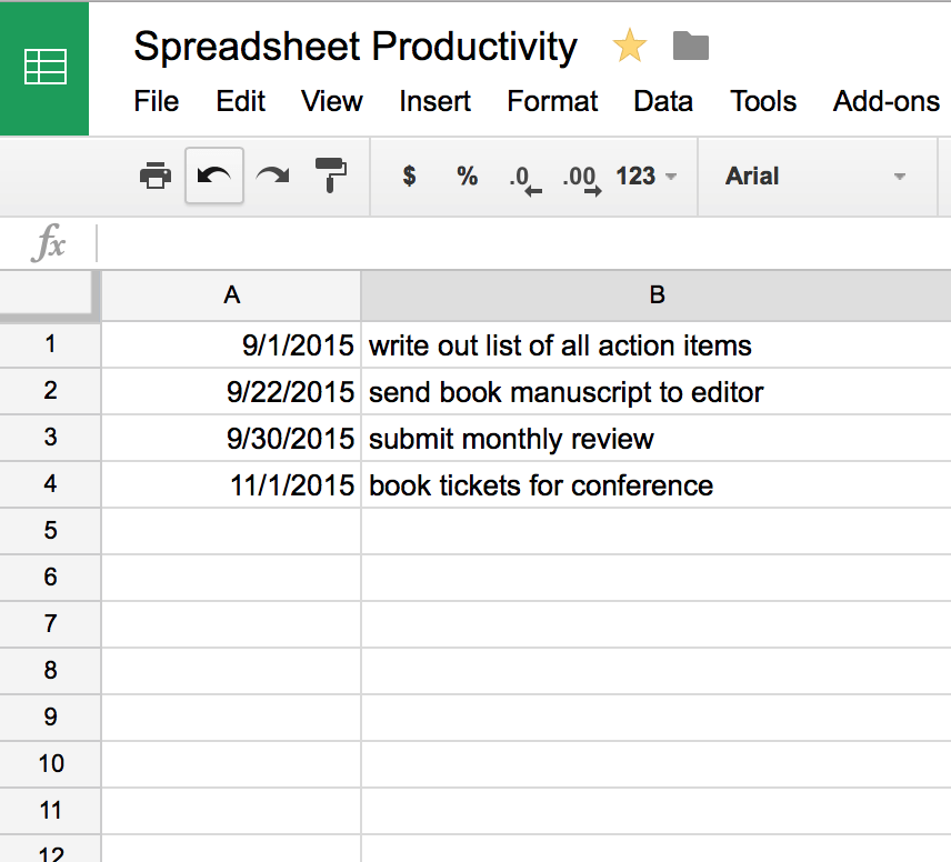 Spreadsheet Productivity