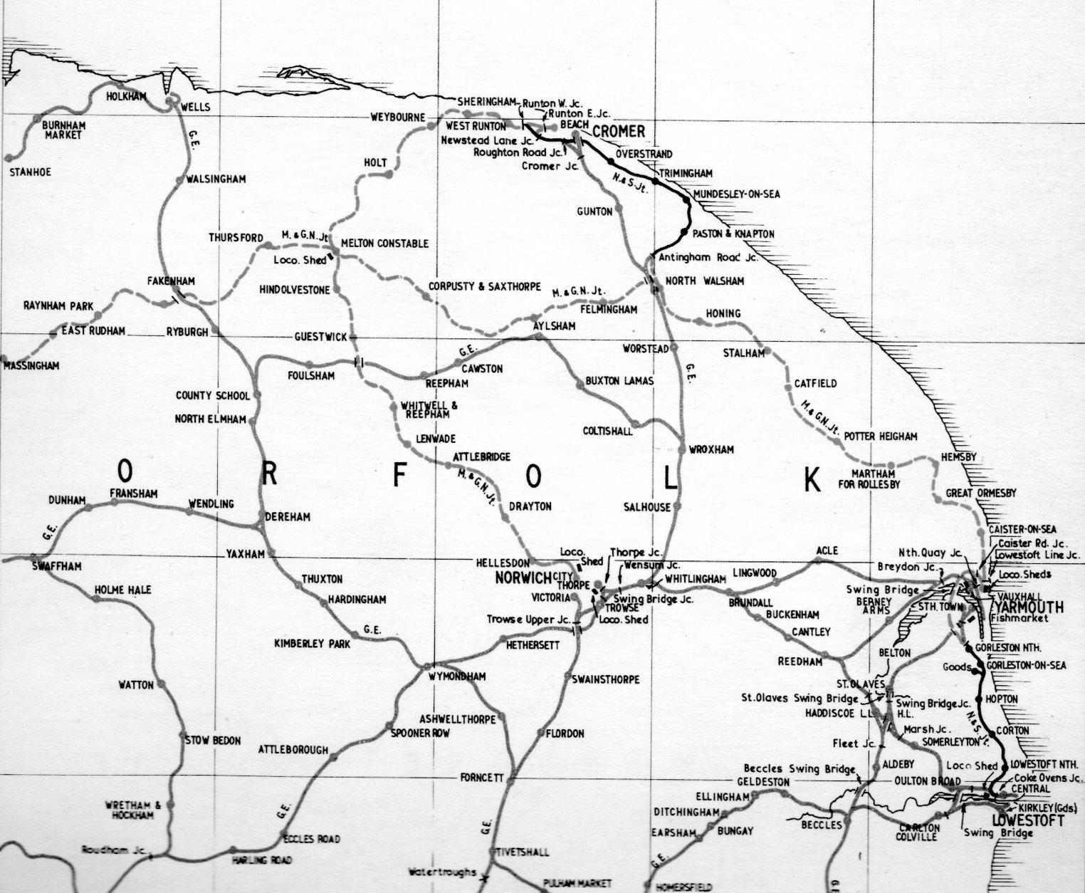 East norfolk's railways