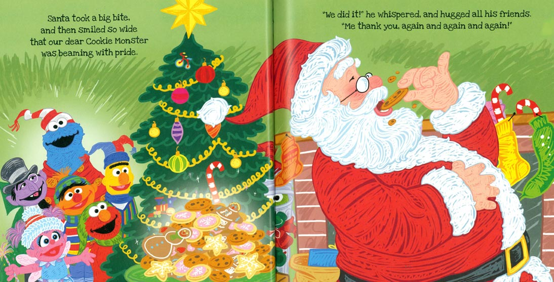 Christmas Eve On Sesame Street.Twas The Night Before Christmas On Sesame Street Pages 26 27