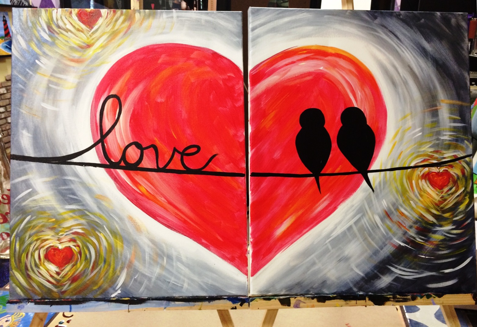 Valentines Day Couples Canvas Special Art Event In Fort