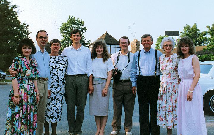 Laurie John wedding guests June 1990