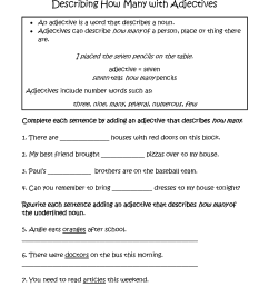 Adjective And Adverb Worksheets With Answer Key Pdf [ 2200 x 1700 Pixel ]