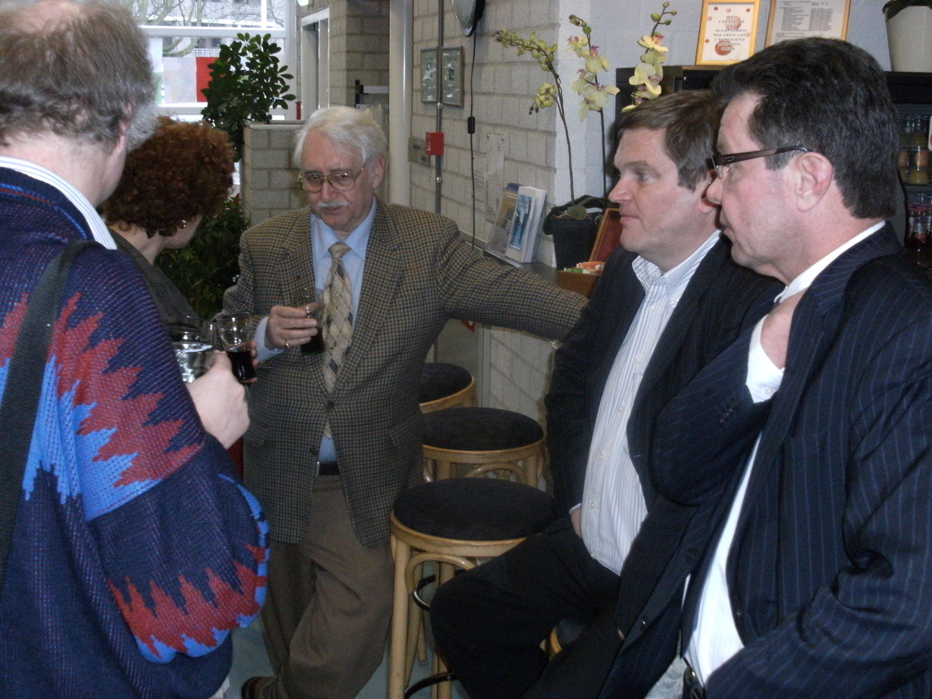 discussie tussen Wim Orbons, Guy Swennen, Ghislain Duchateau, Eric Schleicher foto Ad Verdiesen