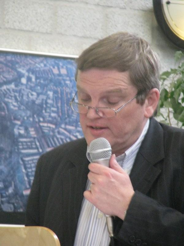 Senator Guy Swennen bij de presentatie (Foto Vaderkenniscentrum)
