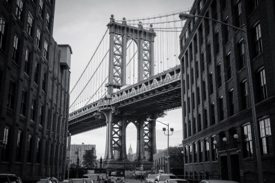 Manhattan Bridge von Washington Street