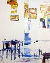 In der Bar, 40 x 50 cm, Acryl auf Leinwand, 2014