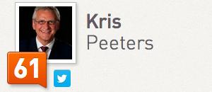 Kris Peeters Klout