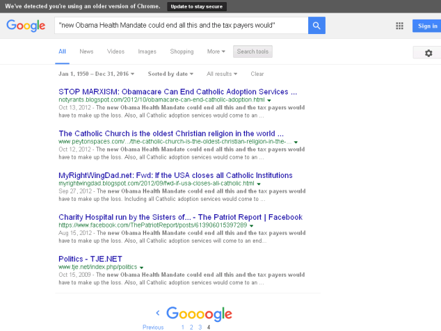 "Earliest Google result for ""An Eye Opener"" email: https://archive.is/jO20n"