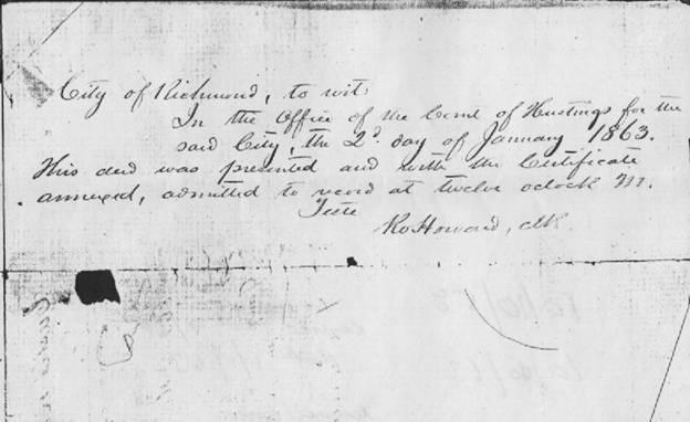 General Robert E Lee Family Slaves