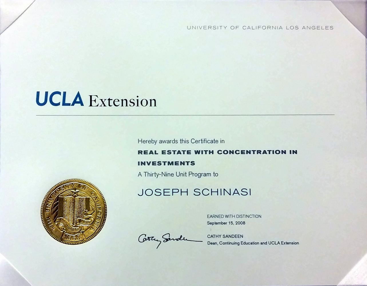 UCLA Extension Commercial Real Estate Investment Analysis