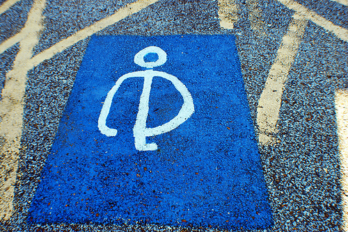 Handicap Parking Symbol - freehand (1)