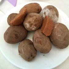 Mojo-Kartoffeln mit Kicherbsenmus