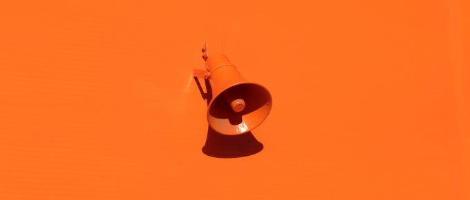 orange megaphone