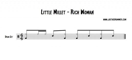 Li'l Millet - Rich Woman Drum Groove
