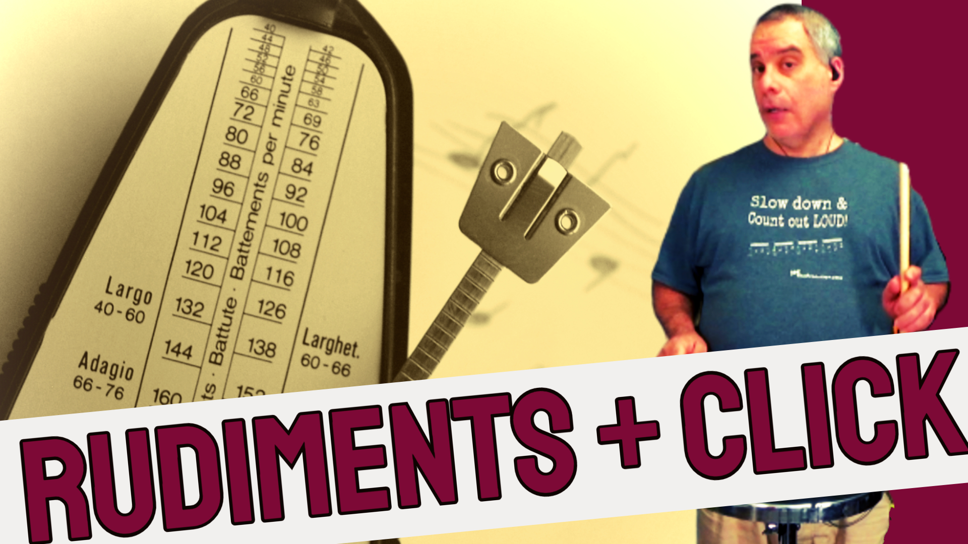 How to play rudiments with a metronome