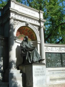 The Hahnemann memorial is the only monument in Washington D.C. dedicated to a physician