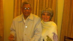 Joette Calabrese with Dr. Prasanta Banerji at the PBHRF clinic in Kolkata