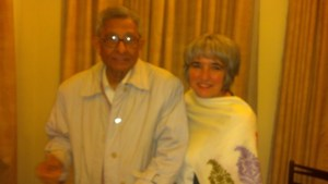 Joette Calabrese with Dr. Prasanta Banerji at the PBHRF clinic in Kolkata