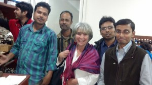 Joette Calabrese with the Homeopathic doctors at the PBHRF clinic on her recent visit in 2013