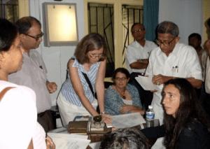 Dr. Elena R. Ladas and Dr. Kara M. Kelly from Columbia University met Brain Tumor patients at PBHRF clinic in Kolkata